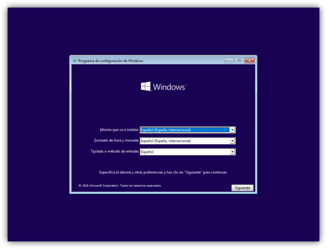 1 instalar windows 10 desde cer0