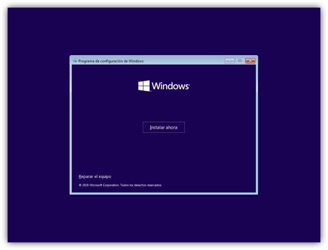 2 instalar windows 10 desde cer0