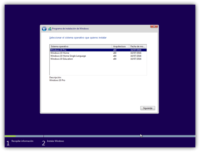 4 instalar windows 10 desde cer0