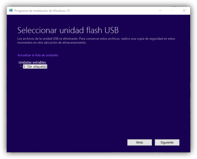 Crear-memoria-USB-de-instalación-de-Windows-10 - instalar windows 10 desde cero