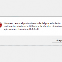 Solución al error api-ms-win-crt-runtime-l1-1-0