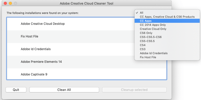 Cc cleaner tool adobe