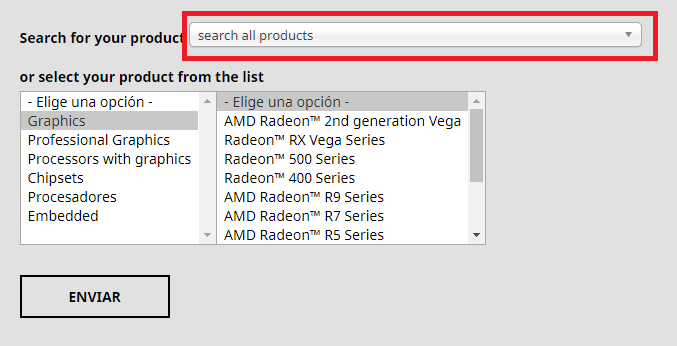 amd actualizar drivers