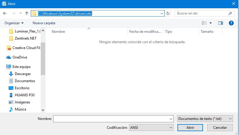 editar hosts windows 2