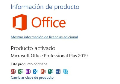 licencia office 2019 original