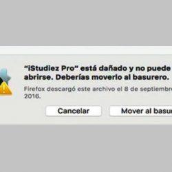 instalador dañado en mac