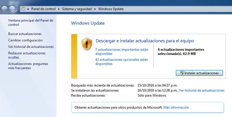 windows 7 windows update - adobe cc 2019 windows 7