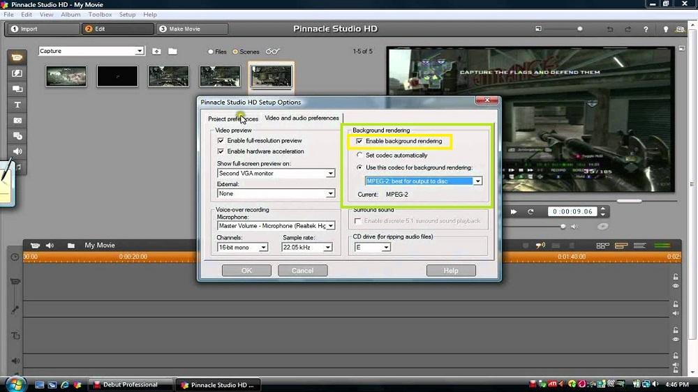 pinnacle studio error exportacion