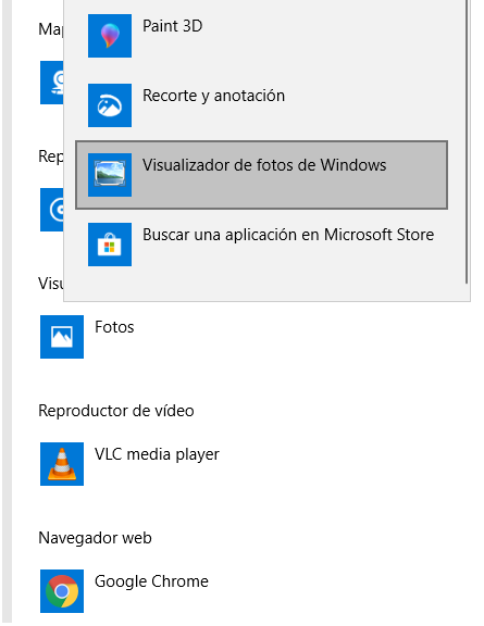 restaurar visor de fotos windows 7 en windows 10