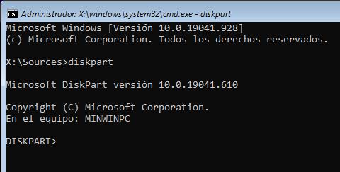 instalar windows 10 pro error